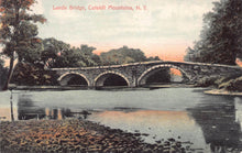 Load image into Gallery viewer, Leeds Bridge, Catskill Mountains, New York, postcard, used in 1910