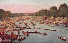 Load image into Gallery viewer, Regatta, Henley-On-Thames, England, Great Britain, Early Postcard, Unused