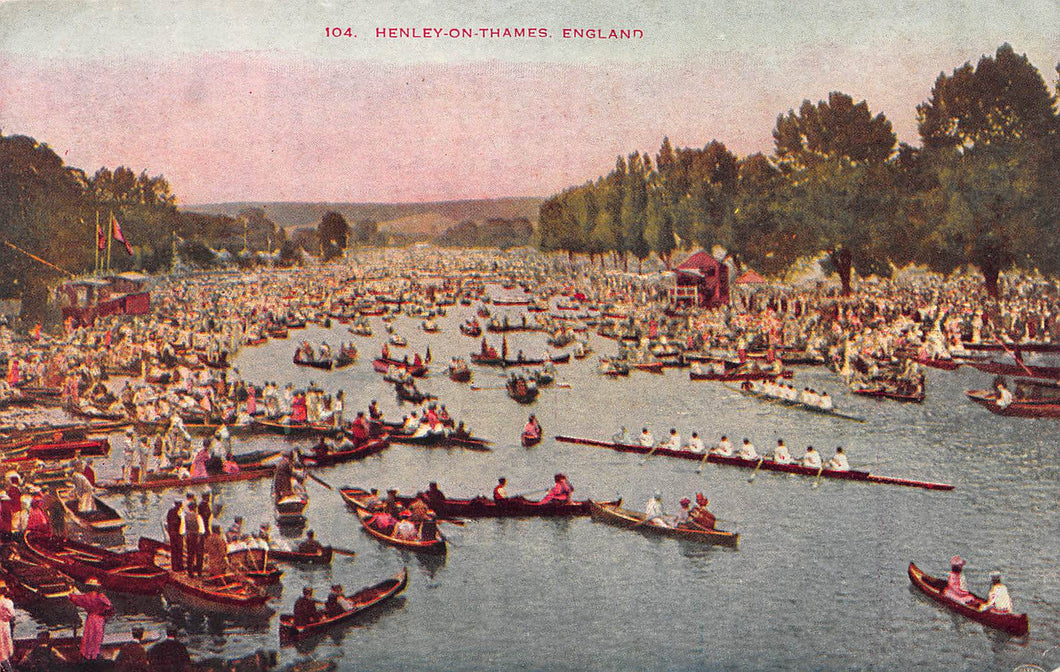 Regatta, Henley-On-Thames, England, Great Britain, Early Postcard, Unused