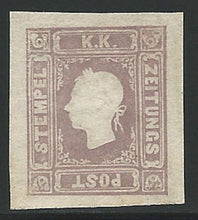 Load image into Gallery viewer, Austria, 1859, Scott #P6, Newspaper Stamp, Mint, Lightly Hinged, Very Fine, signed