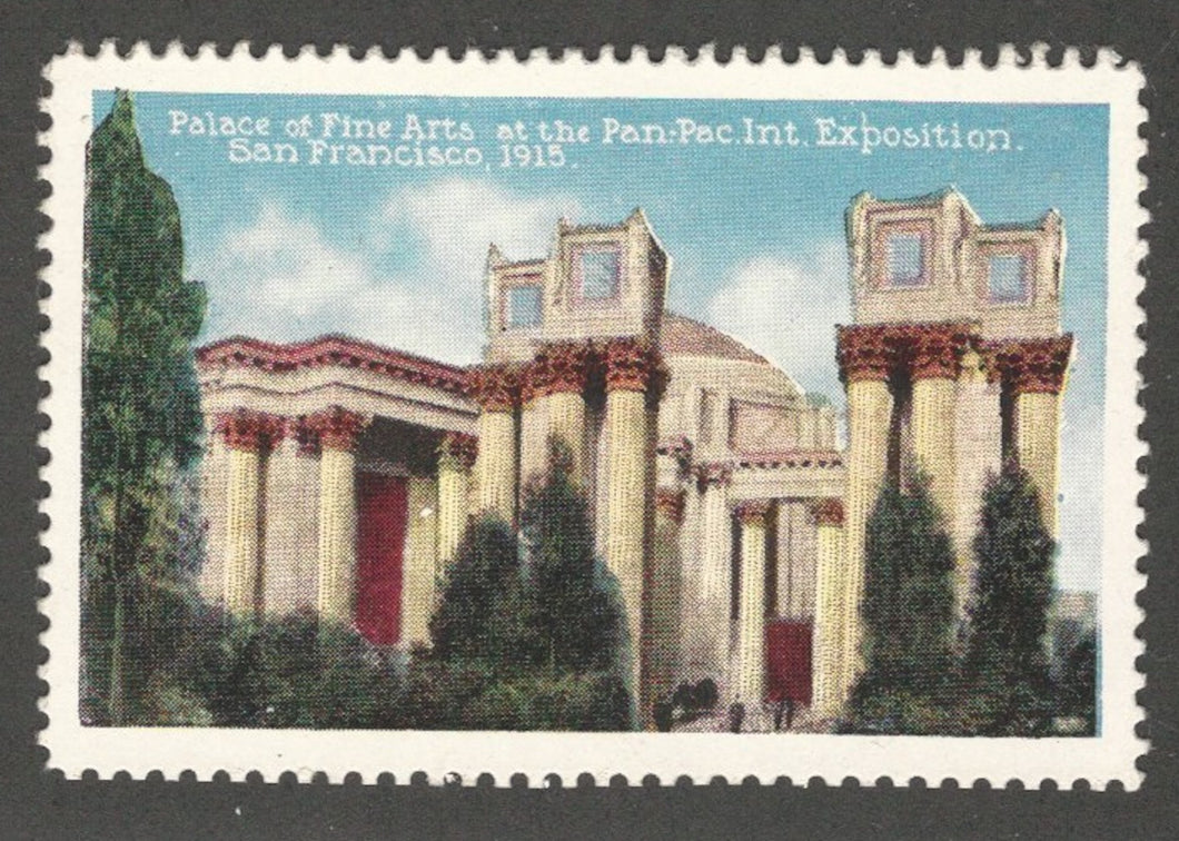Palace of Fine Arts at the 1915 Panama-Pacific International Expo, San Francisco, CA, Poster Stamp