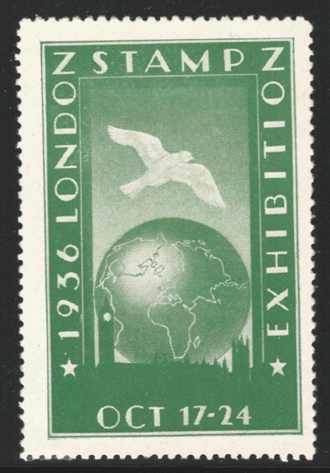 London Stamp Exhibition, 1936 London, England, Great Britain, Poster Stamp