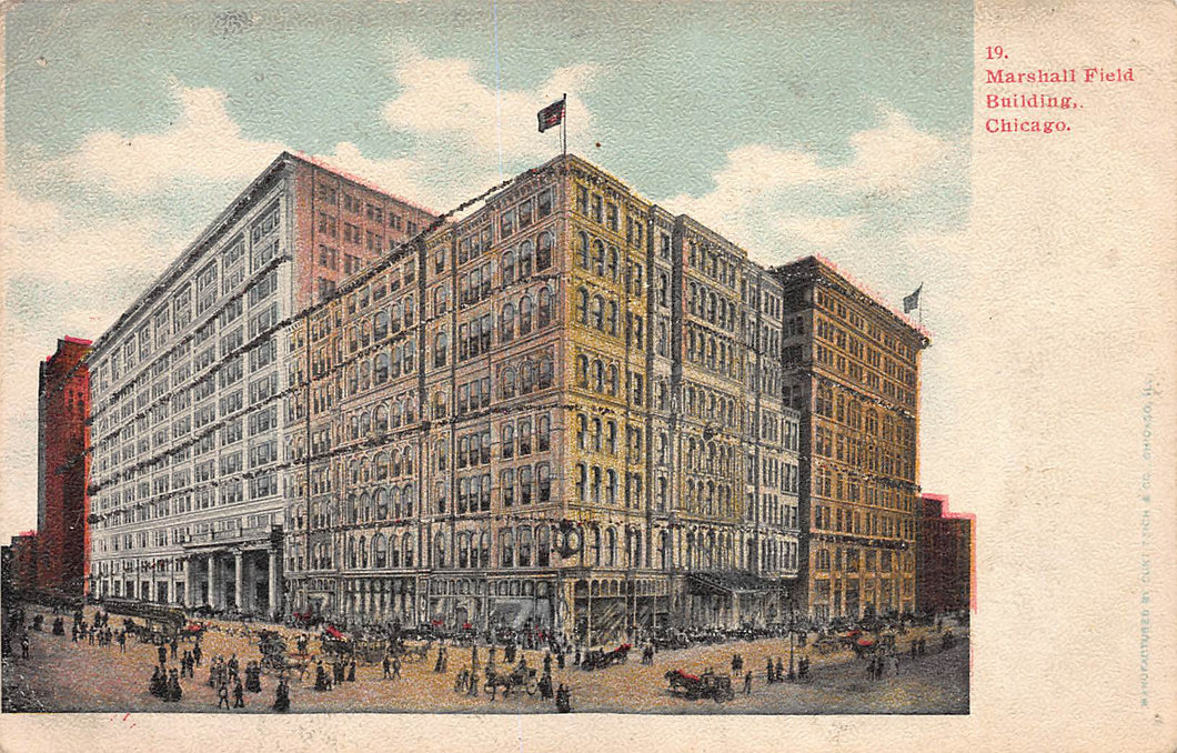 Marshall Field Building, Chicago, Illinois, very early postcard, unused