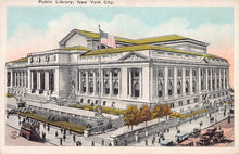 Load image into Gallery viewer, Public Library, Manhattan, New York City, N.Y., early postcard, unused