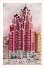 Load image into Gallery viewer, Hotel Lexington, Lexington Ave. at 48th Street, Manhattan, New York City, N.Y., early postcard, unused