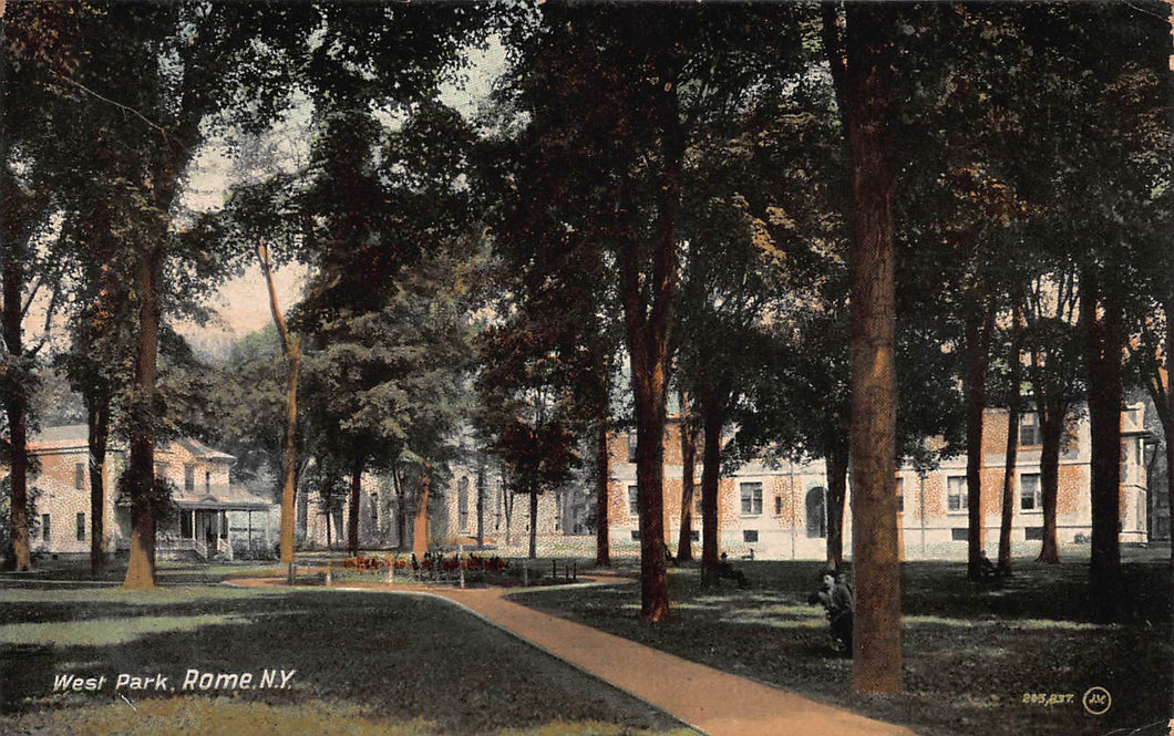 West Park, Rome, New York, postcard, used in 1909