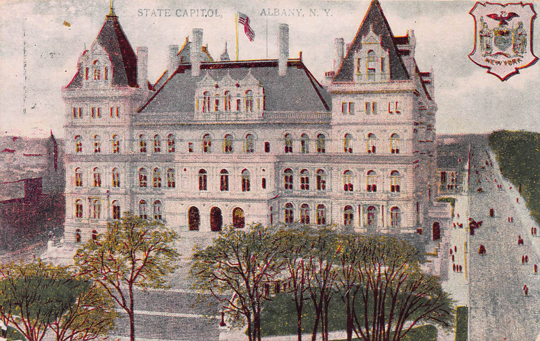 State Capitol, Albany, New York., early postcard, unused