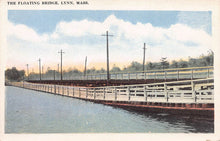 Load image into Gallery viewer, The Floating Bridge, Lynn, Massachusetts, early postcard, unused