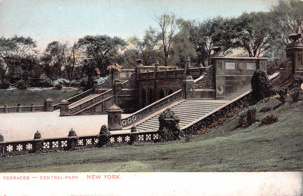 Terraces, Central Park, Manhattan, New York City, N.Y., early postcard, unused