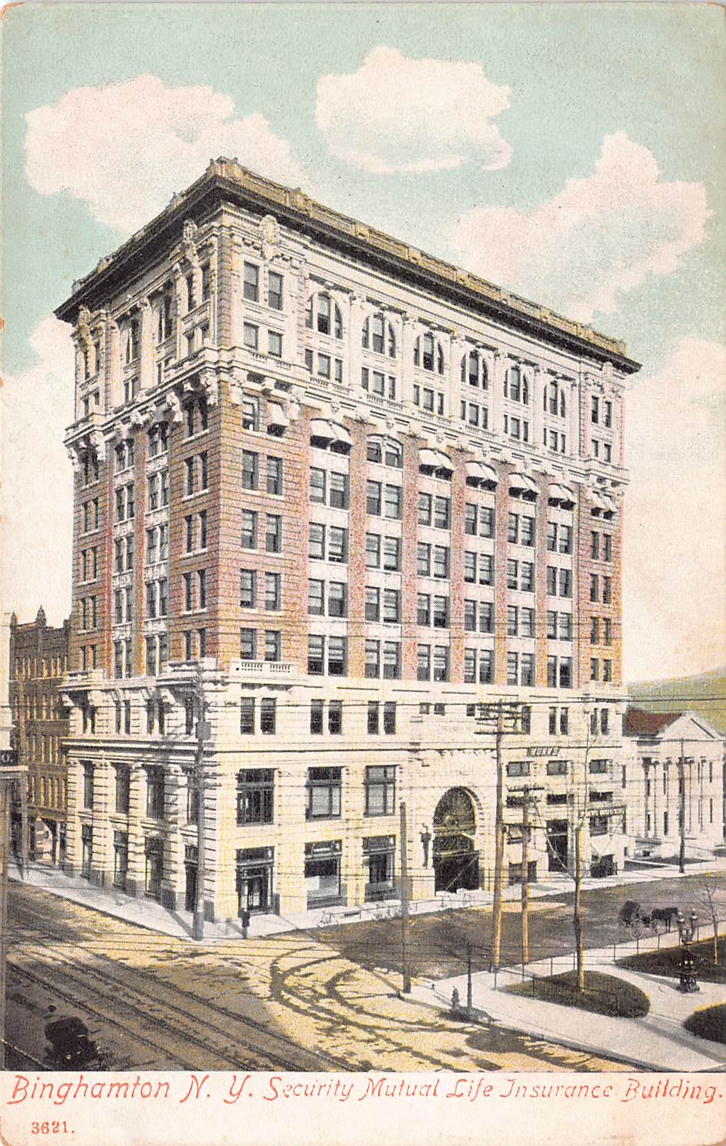 Security Mutual life Insurance Building, Binghamton, New York., early postcard, unused