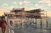 Load image into Gallery viewer, Million Dollar Pier, Atlantic City, New Jersey, early postcard, used in 1913