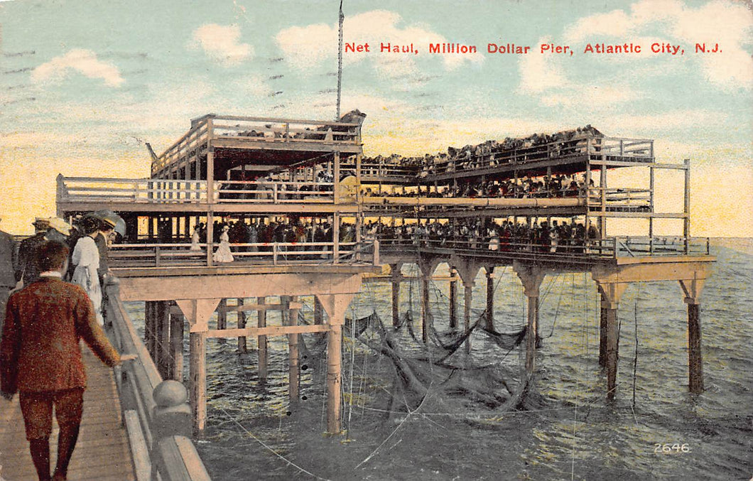 Million Dollar Pier, Atlantic City, New Jersey, early postcard, used in 1913