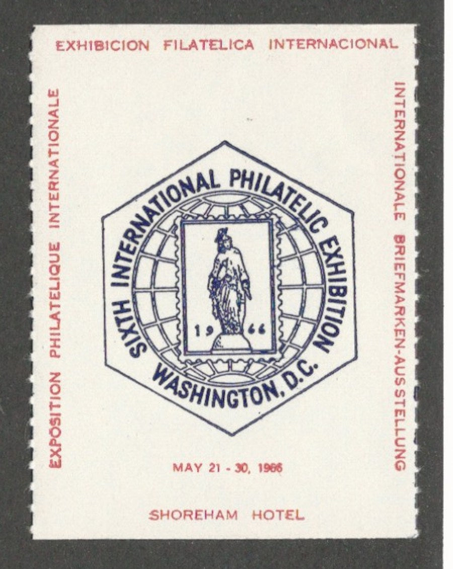 SIPEX, Sixth International Philatelic Exhibition, Washington, D.C., 1966 Poster Stamp