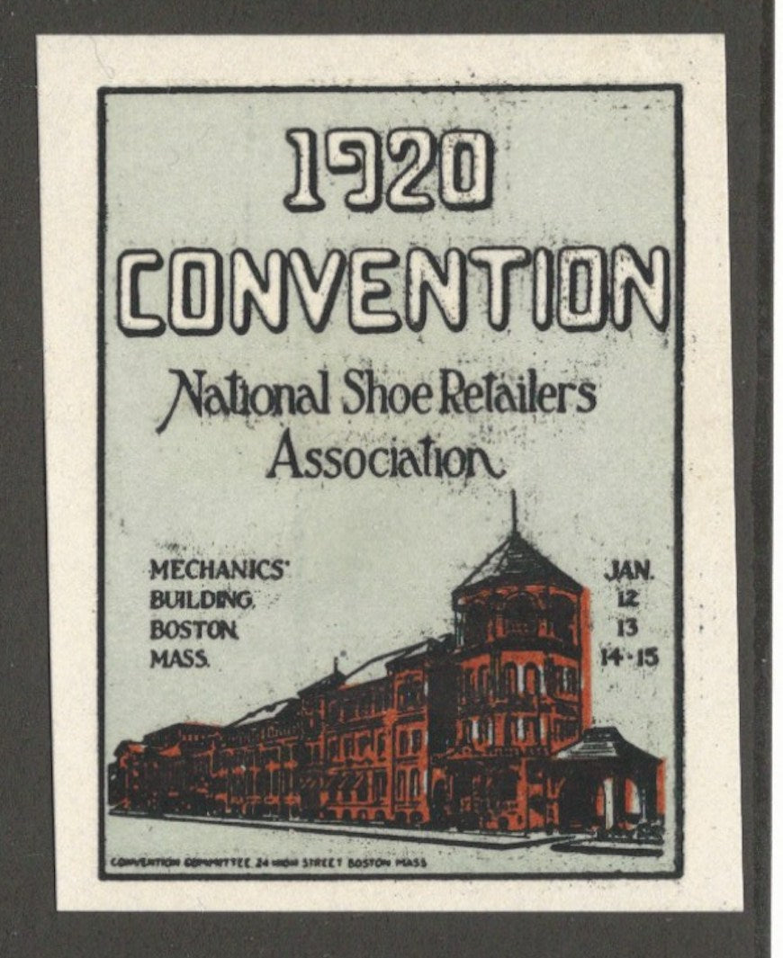 National Shoe Retailers Convention, 1920, Boston, Mass., Poster Stamp