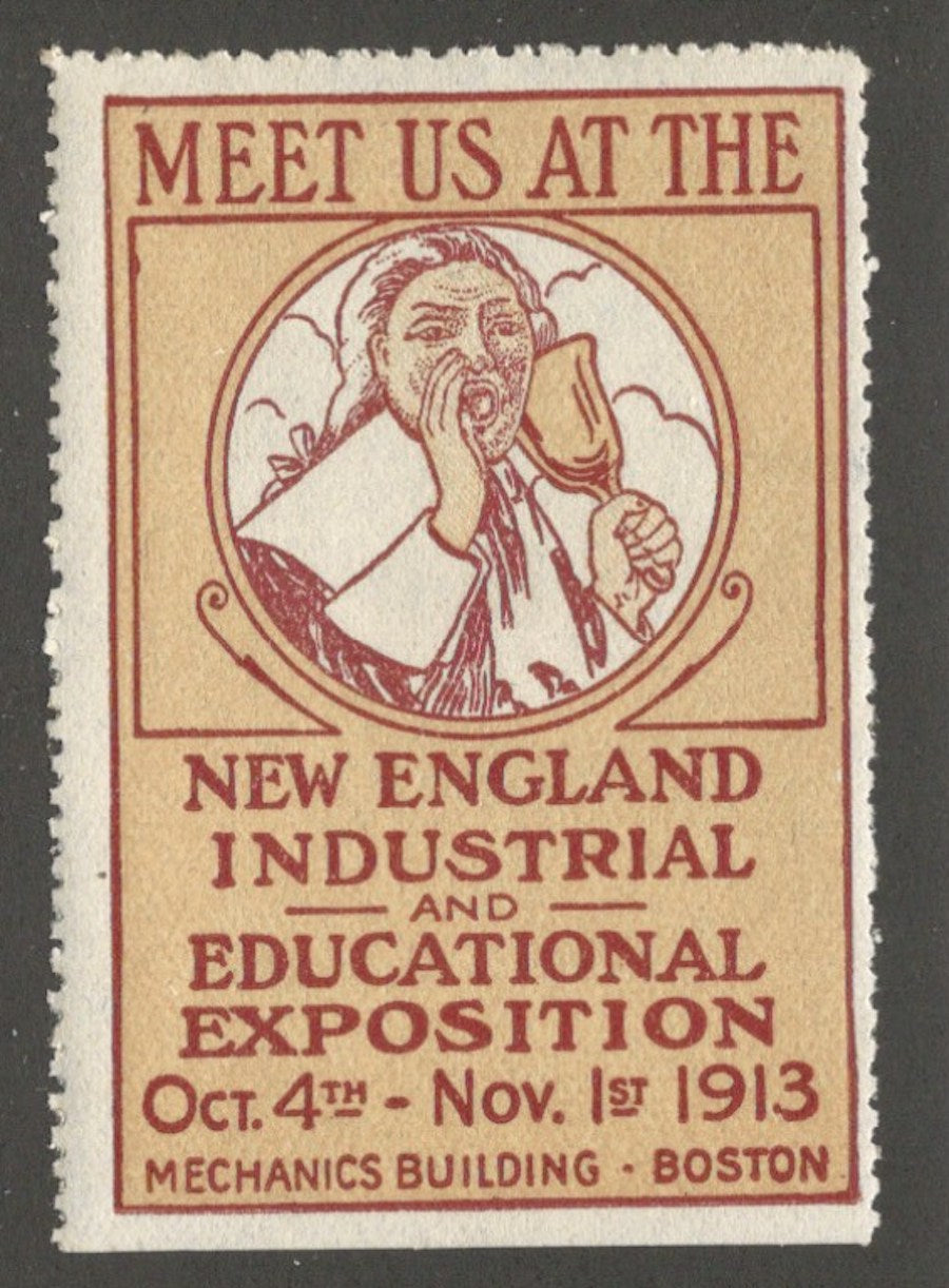 New England Industrial Exposition 1913, Boston, Massachusetts, Poster Stamp