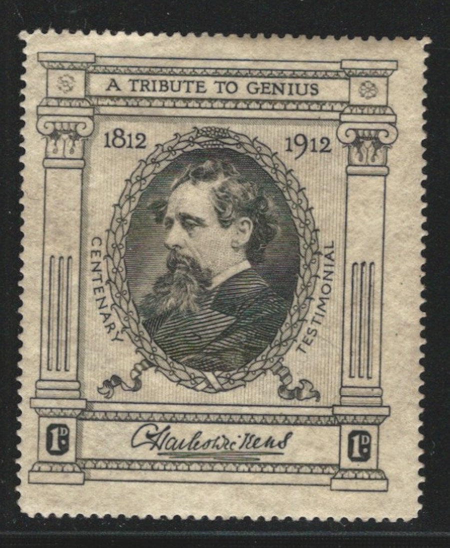Charles Dickens Centenary 1812-1912, England, 1912, Great Britain, Poster Stamp