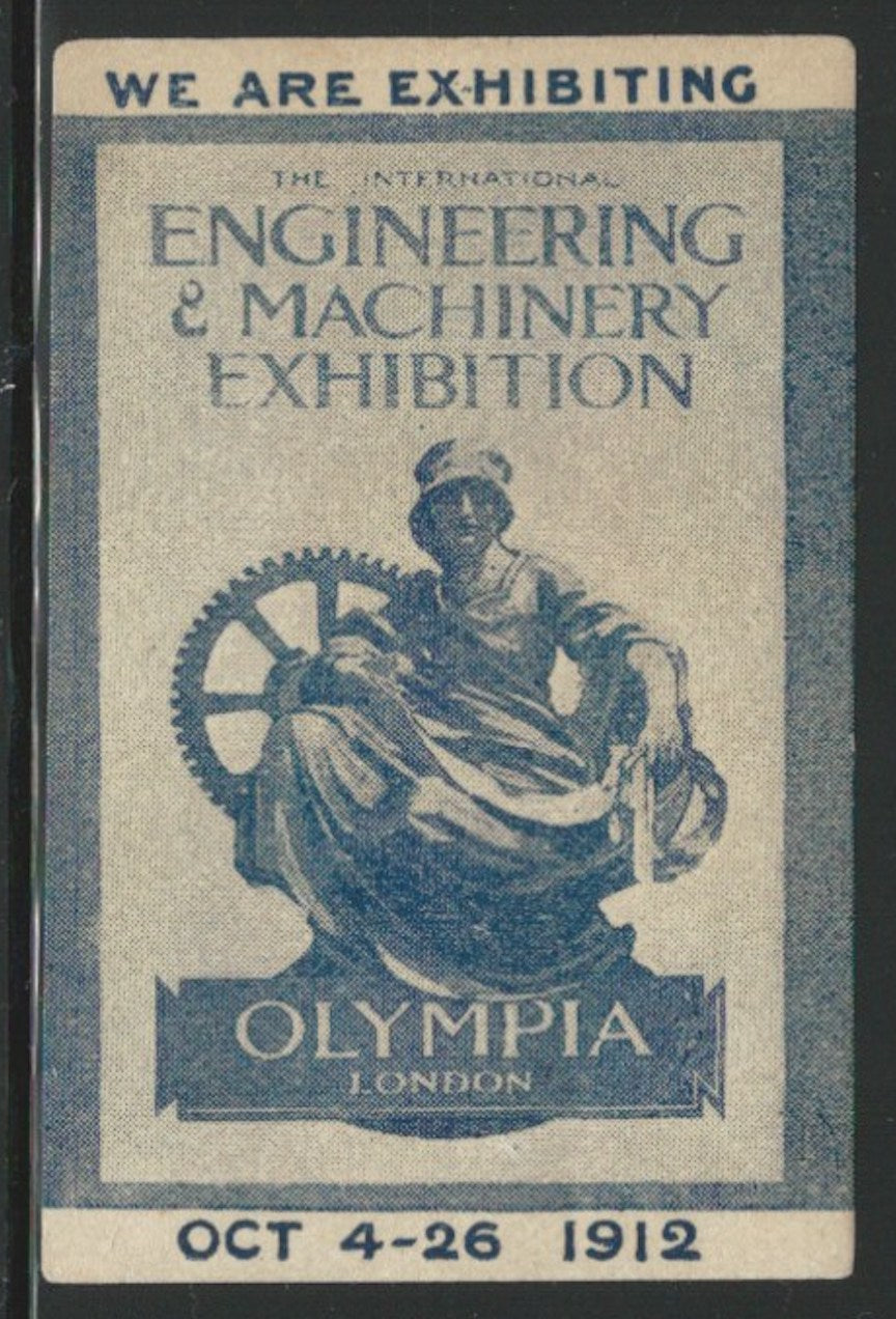 The International Engineering & Machinery Exhibition 1912, London, England, Great Britain, Poster Stamp