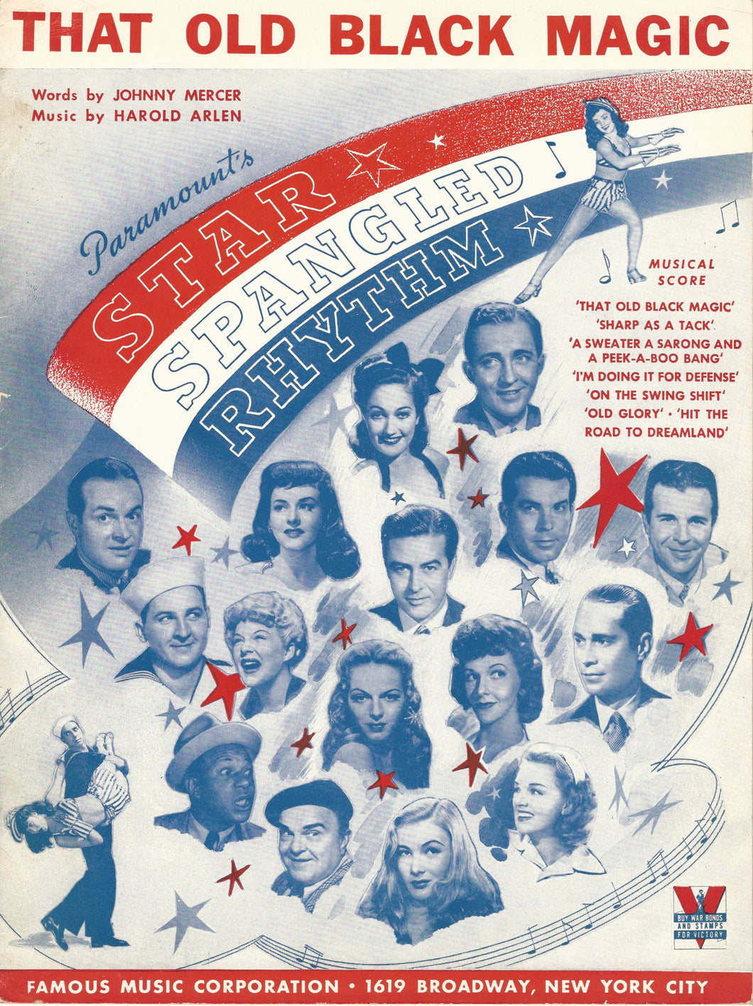 That Old Black Magic, from the Movie: Star Spangled Rhythm, words & music by Johnny Mercer and Harold Arlen, 1942 Sheet Music