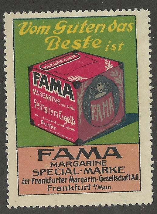 FAMA Magergine, Frankfort, Germany, Early Poster Stamp