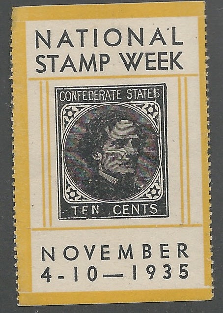 National Stamp Week, November 4-10, 1935, U.S. Poster Stamp