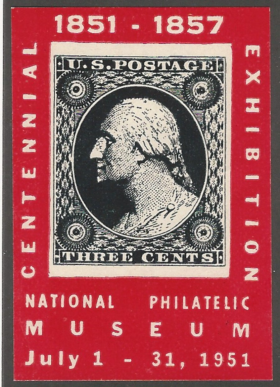 National Philatelic Museum, Centennial of 1851-1857 Issue Exhibition, Poster Stamp