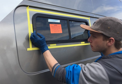 How to install windows in a camper van