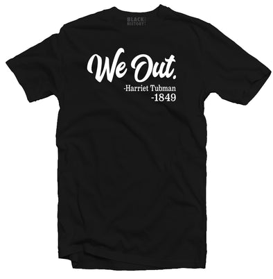 We Out Mens Black Tee