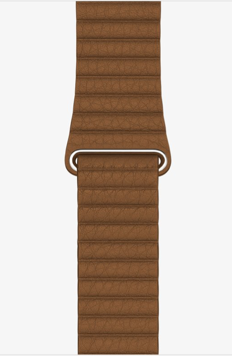Brown Leather Loop for Apple watch.