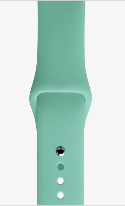 Silicon SeaSalt sports strap for Apple watch