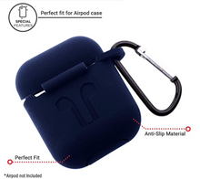 Załaduj obraz do przeglądarki galerii, Hijarvis Silicone Fit Cover Case Compatible with Airpods 1 | Airpods 2 | Airpods Pro- Red