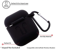 Load image into Gallery viewer, Hijarvis Silicone Fit Cover Case Compatible with Airpods 1 | Airpods 2 | Airpods Pro- Black