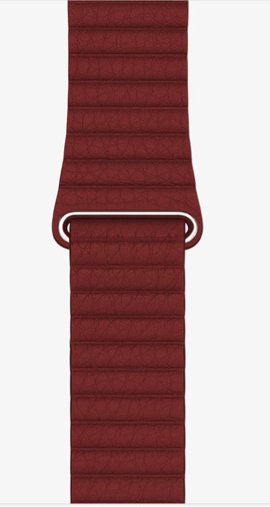 Red Leather Loop for Apple watch.