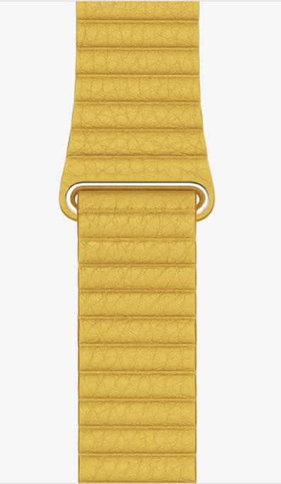 Yellow Leather Loop for Apple watch