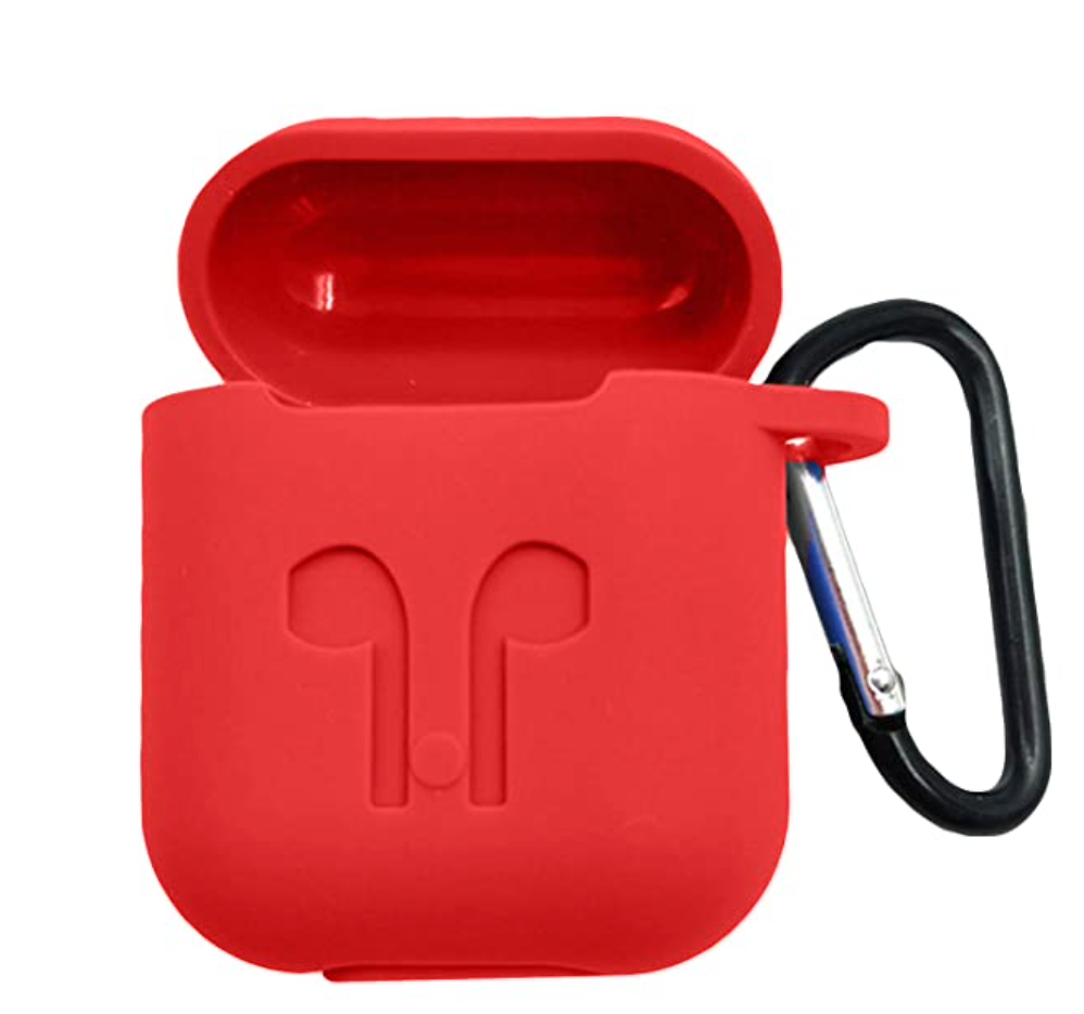 Hijarvis Silicone Fit Cover Case Compatible with Airpods 1 | Airpods 2 | Airpods Pro- Red