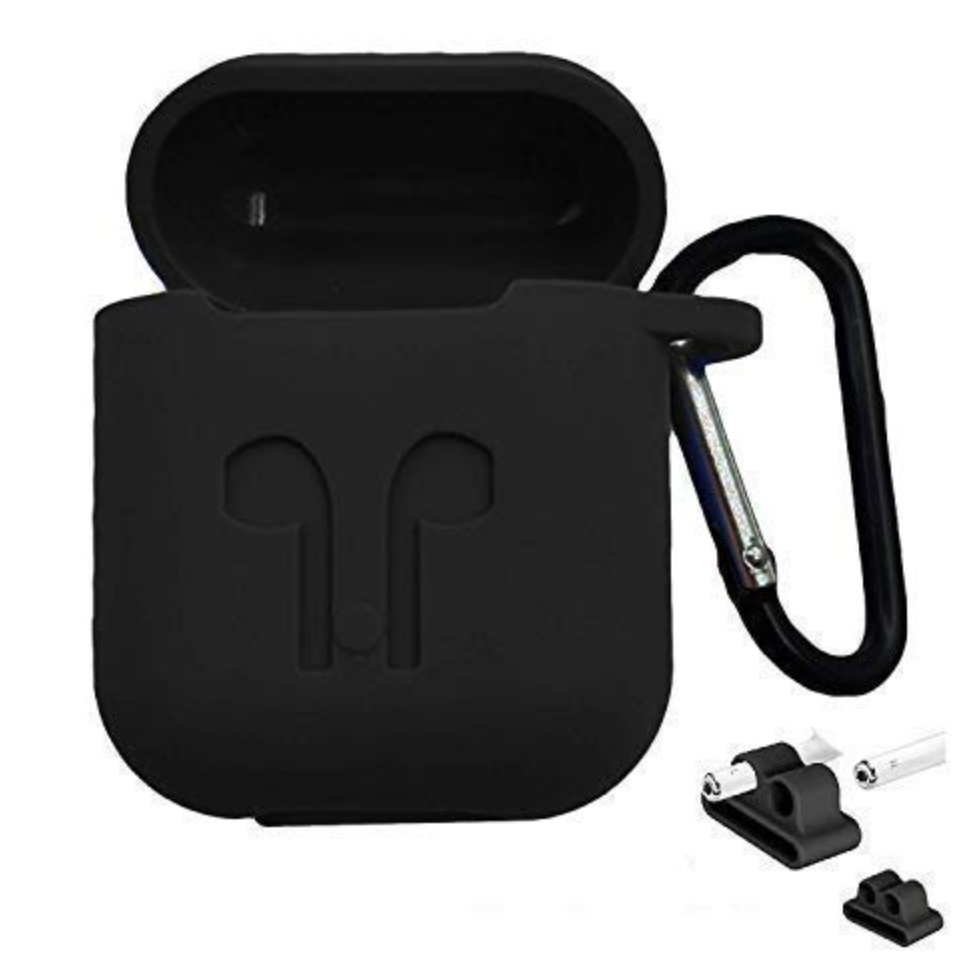 Hijarvis Silicone Fit Cover Case Compatible with Airpods 1 | Airpods 2 | Airpods Pro- Black