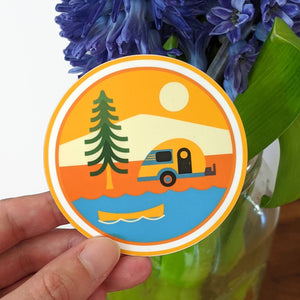 Camping Adventures Vinyl Sticker