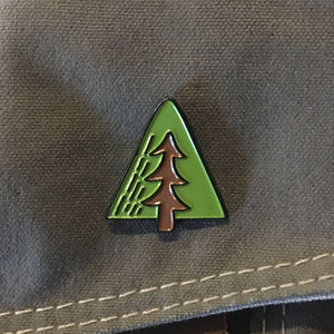 Minimal Adventure Enamel Tree Pin
