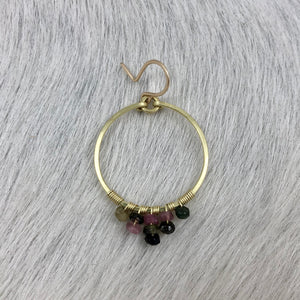 Small Tiered Stone Hoop