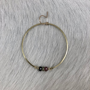 Simple Hoop and Triple Stone Earring