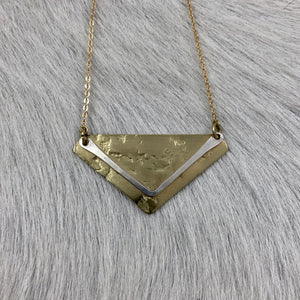Chevron and Diamond Necklace
