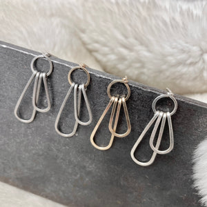 Tiered Skinny Teardrop Post Earring