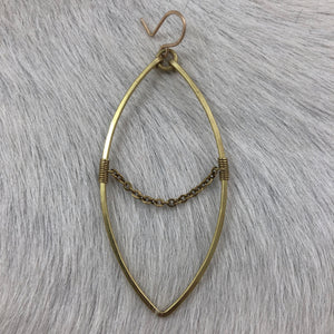 Large Marquise and Chain Earring