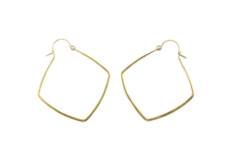 Large Square Simple Hoop Earring