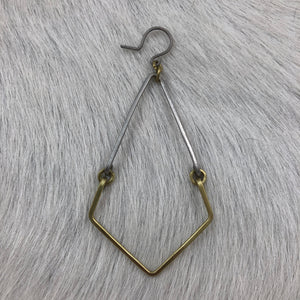 Mixed Metal Dagger Earring