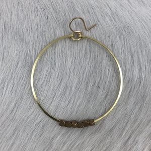 Hoop and Brass Beads Earring (Two Sizes!)