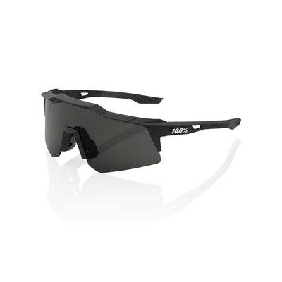 100% Speedcraft XS - Soft Tact Black - Smoke Lens