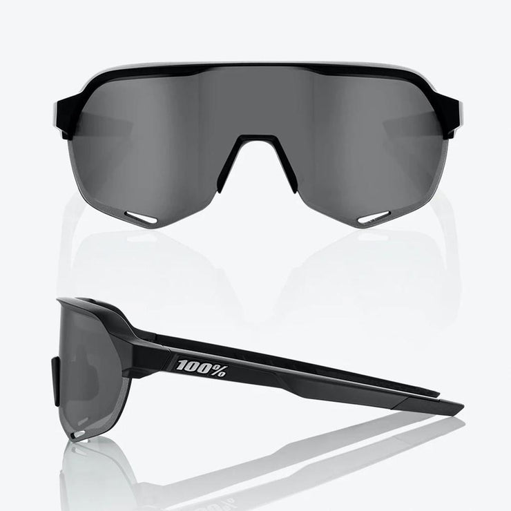 100% S2 - Soft Tact Black - Smoke Lens