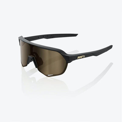 100% S2 - Matte Black - Flash Gold Lens