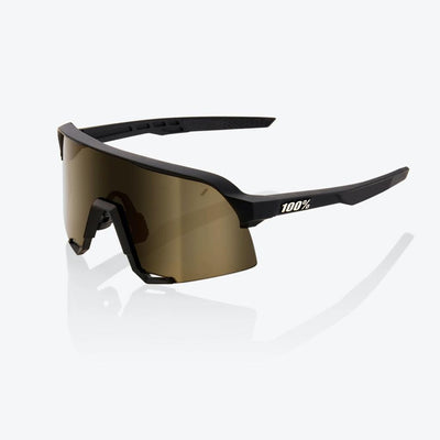 100% S3 Soft Tact Black - Soft Gold Lens