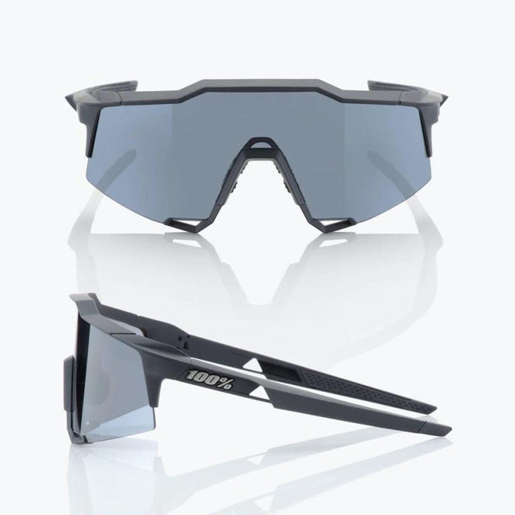 100% Speedcraft - Soft Tact Black - Smoke Black Lens